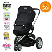 SnoozeShade Plus | Sun and UV Cover Sunshade for baby strollers | Universal Fit | Blocks 99% UV