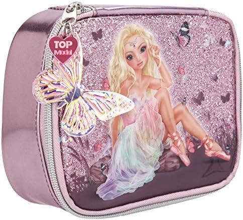 Depesche 10915 Kosmetiktasche, Fantasy Model Ballett, rosa, ca. 7 x 15 x 19 cm