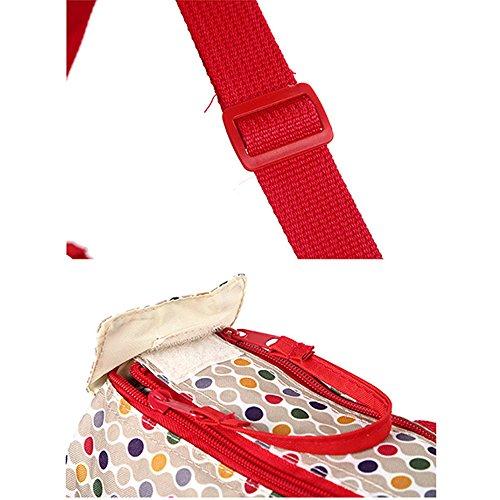 Marke New Baby Wickeltasche, Set Mummy Schulter Handtasche Wickeltasche Set rot