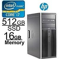 HP Elite 8300 Core i7 3.4GHZ, 512GB SSD, 16GB, Windows 7 Pro 64-Bit (Certified Refurbished)