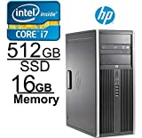 HP Elite 8300 Core i7 3.4GHZ, 512GB SSD, 16GB, Windows 7 Pro 64-Bit (Certified Refurbished)
