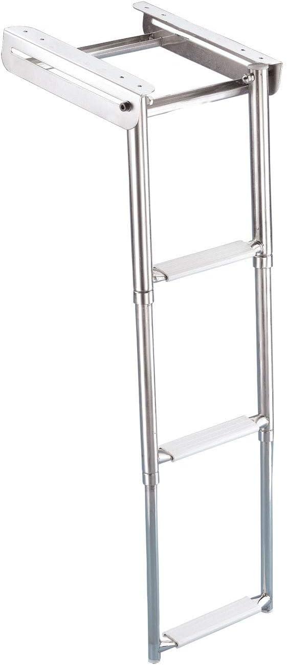 Trem-Escalera Telescópica de Desaparición Modelo: C-4 Peldaños de Escalera, Longitud: 290 mm, Peso: 4400 G.: Amazon.es: Deportes y aire libre