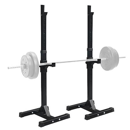 sportmad par de mancuernas Rack estándar ajustable banco de sentadillas pesas de acero sólido resistente prensa libre Stands portátil accesorio de para ...