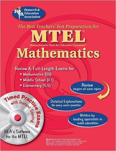 MTEL Mathematics (Fields 09, 047, 053) w/ CD-ROM (MTEL