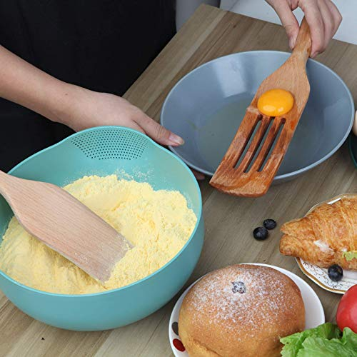 Moliy Spurtle Set, Wooden Spurtles Kitchen Tools 3pc for Non Stick Cookware Porridge-Stirring, Baking, Whisking, Smashing, Scooping, Spreading, Serving
