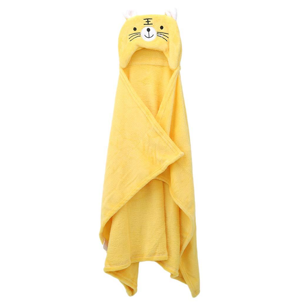 HAOWANG Soft Baby Warm Cloak Wraps Cute Cartoon Animal Windproof Shawl Blanket Hooded Bathrobe
