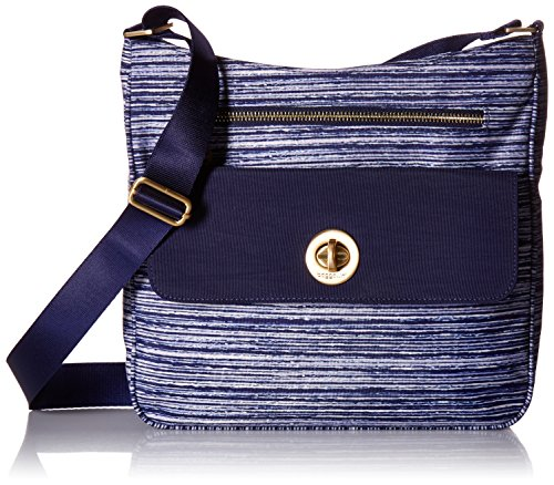 Top Zip Cross Body - Baggallini Antalya Top Zip Flap Crossbody, horizon stripe print