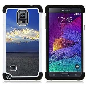 "Hypernova Híbrido Heavy Duty armadura cubierta silicona prueba golpes Funda caso resistente Para Samsung Galaxy Note 4 IV / SM-N910 [Naturaleza Nube Sol""]"
