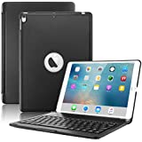 New iPad Pro 10.5 Keyboard Case,Boriyuan Protective Ultra Slim Hard Shell Folio Stand Smart Cover with 7 Colors Backlit Wireless Bluetooth Keyboard for Apple iPad Pro 10.5 inch 2017 Tablet (Black)