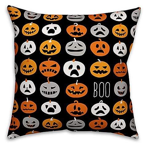 Designs Direct Halloween Boo Pumpkin Pattern Square -