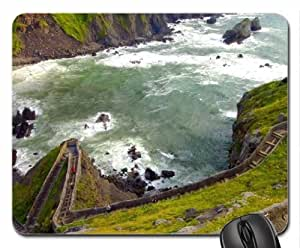 amazing steps on a coastal cliff Mouse Pad, Mousepad (Beaches Mouse Pad)