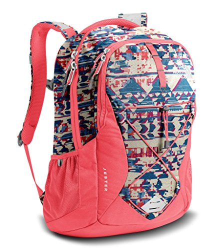 The North Face Women's Jester Backpack - Vintage Whte Native Frequencies PRNT & Calypso Coral - OS (Past Season)