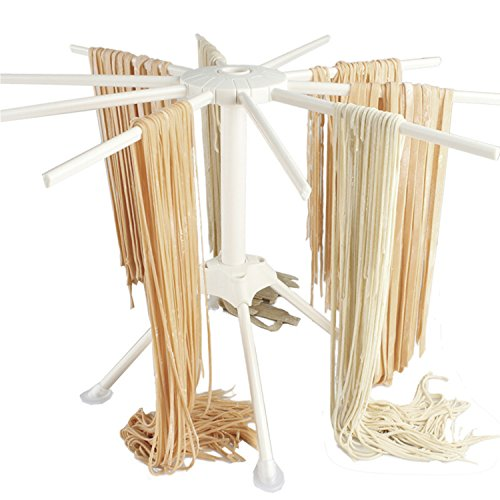Pasta Drying Rack with 10 bar handles Collapsible Household Noodle Dryer Rack Hanging ()