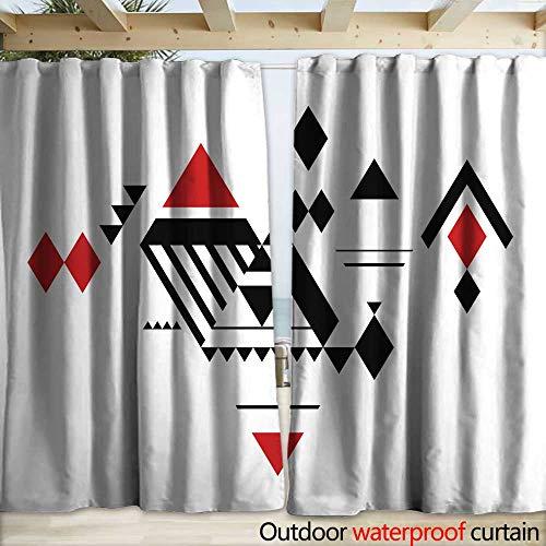 o Outdoor Curtain Diamonds Pattern Drapery W108 x L96 ()