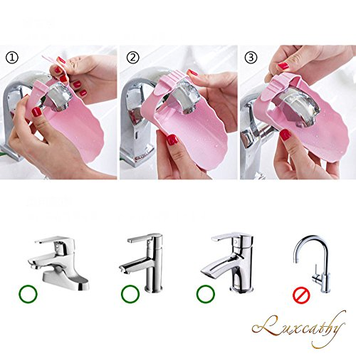 Luxcathy Pack of 2 Safety Adjustable Faucet Extenders for Babies, Toddlers, and Kids - Blue and Green by Luxcathy (Image #2)
