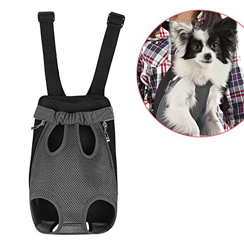 Dog-In-Back-Prime-Soft-and-Breathable-Cute-Canvas-Dog-Carrier-to-Securely-Carry-Your-Dog-in-FrontBack-Pack-Style-Infant-Carrier-Design-Vibrant-Blue-Red-and-Grey