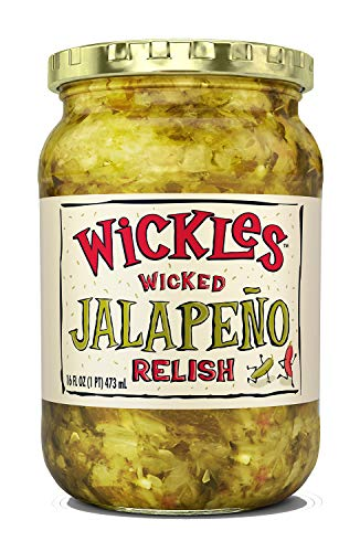 Wickles Wicked Jalapeno Relish, 16 oz (Pack - 10)