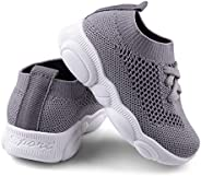 Baby First Walking Shoes 1-4 Years Kid Shoes Trainers Toddler Slip on Infant Waves Shoes Boys Girls Cotton Mesh Breathable S