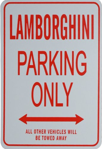 Lamborghini Parking Only   Miniature Fun Parking Sign   Ideal Gift For The Motoring Enthusiast
