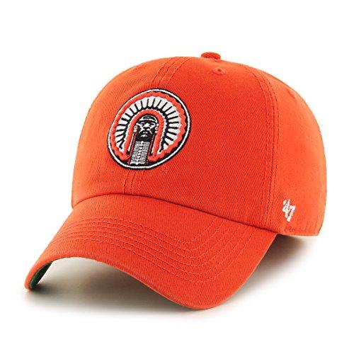 ('47 NCAA Illinois Illini Franchise Fitted Hat, Orange 2, Large)