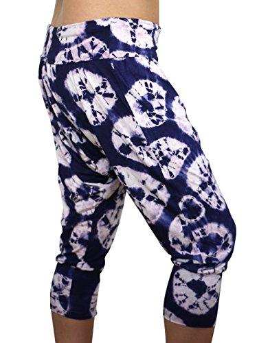 48ddebeafb Karmala Bamboo Baggy Indigo Sand Dollar Capri Pants, Soft and Eco-Friendly,  Large