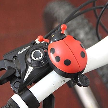 New Bicycle Ladybug Bell Ladybird Alarm Bike Metal Handlebar Horn