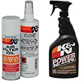 KN 99-5000 99-0621 Aerosol Recharger Air Filter Care Service Kit and Air Filter Cleaner Degreaser