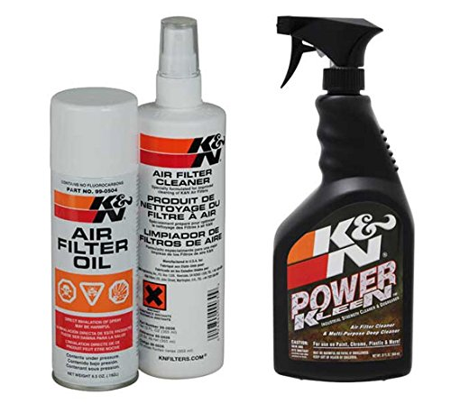 K&N Aerosol Recharger Air Filter Care Service Kit PLUS Air Filter Cleaner and Degreaser - 32 oz. Trigger Sprayer