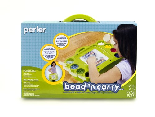 Perler Beads Bead 'n' Carry Craft Activity Kit, 1204 pcs
