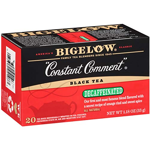 Bigelow Decaffeinated Assorted Teas, Decaffeinated Individual Green Tea and Black Tea Bags