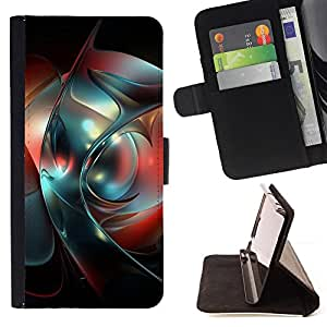 DEVIL CASE - FOR HTC One M9 - Abstract - Style PU Leather Case Wallet Flip Stand Flap Closure Cover