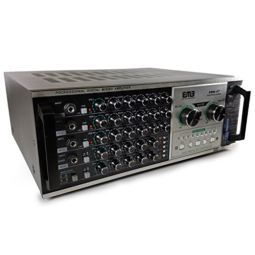 EMP Professional EBK57 1200W Karaoke Echo Power Mixing Amplifier w/Remote/USB/SD/MP3/WMA Player