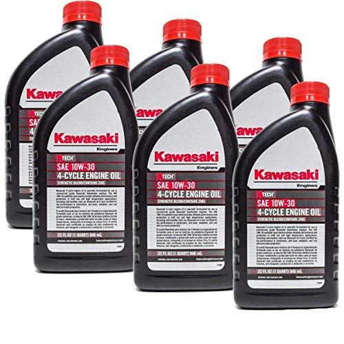 Kawasaki 99969-6081 Pack of 6 Quarts 4 Cycle Engine Oil ()