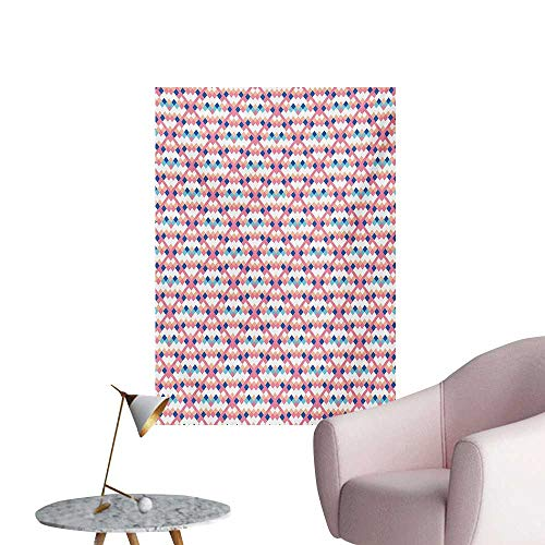 Anzhutwelve Geometric Photographic Wallpaper Diamond Shaped Little Squares Artistic Avant Garde Color Boxes Checkered ModernMulticolor W20 xL28 Wall ()