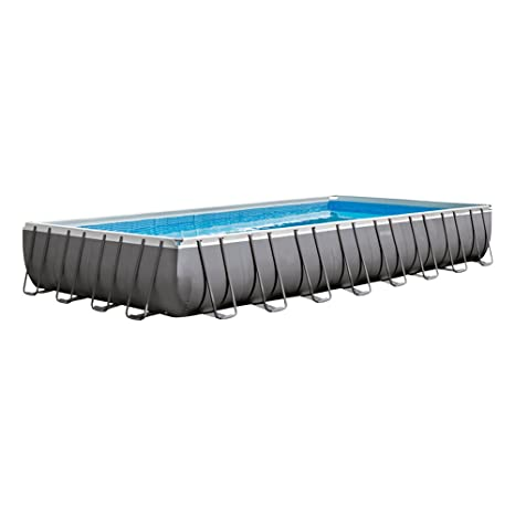 Intex Ultra Frame Piscina desmontable, 54368 litros, Gris, 488x975x132 cm