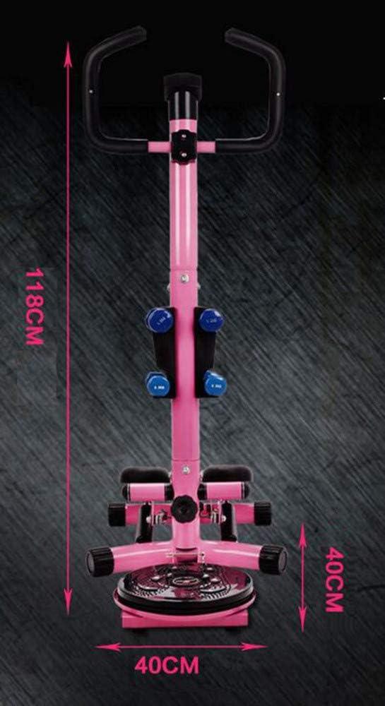 BTHDPP Tragbarer Mini-Stepper Mit Handgriff 2-in-1-Multifunktions-Mini-Stepper-Heimtrainer Mit LCD-Display Und Handgriff Body Twister F/ür Individuelles Sportfitness-Training,Black
