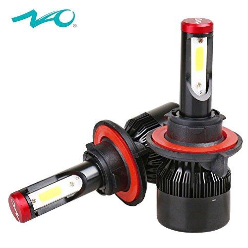 H13 Low Beam (H13/9008 LED Headlight Bulbs Super Bright 60W 7600LM Hi/Lo Beam Auto Headlamp Conversion Kit 12V 6000K White)