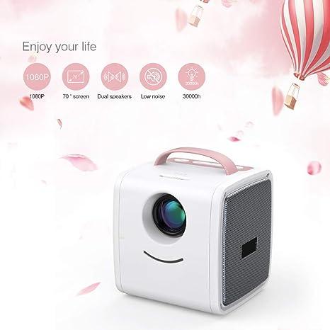 Mouwa Mini Proyector Portátil, Pocket Video Proyector Es ...