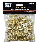 "100 pc Brass Grommet 1/2"" ID Set"