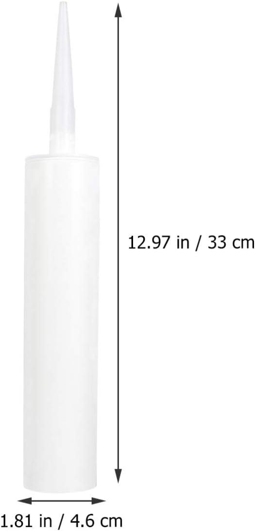 Hemoton 5 Piezas Tubos de Calafateo de Pl/ástico Vac/íos Sellador Recargable Tubos de Calafateo Tubo de Calafateo Vac/ío Reutilizable para Suministros de Herramientas de Mejora Del Hogar