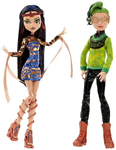 Monster High Boo York, Boo York Comet-Crossed Couple Cleo de Nile and Deuce Gorgon Doll, 2-Pack (Discontinued by -