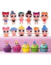 Yisscen Lol Mini-figuren, set van pop, cake, taartfiguren, decoratie voor feestjes, taartdecoratie, speelgoed, verzamelfiguren, voor kinderverjaardag, decoratie, meisjes, jongens, verjaardag, jubileum