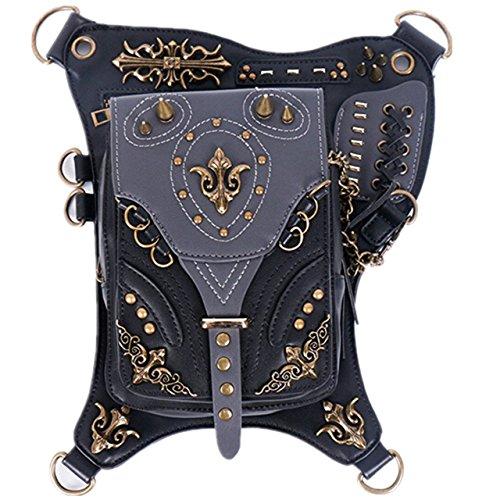 MIRUIKE Vintage Gothic Steampunk Handbag