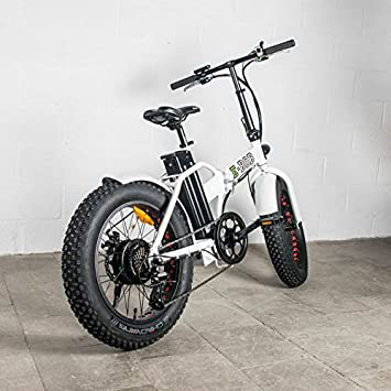 Bicicleta eléctrica plegable Fat Bike E-Bob blanco 36 V-13 (80 Ah