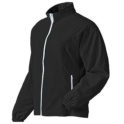 .com : FootJoy Performance Full-zip Golf Windshirt 2016 Ladies Black/White Small : Golf Shirts : Clothing