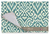 Cala Home 24-Pack Disposable Paper Placemats, Williamsburg Ikat Teal
