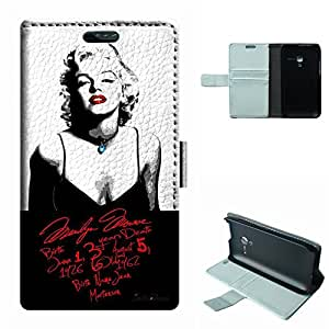 D3 Case, SoloShow® New Alcatel One Touch Pop D3/4035X Case Marilyn Monroe sexy pattern Luxury Wallet PU Leather Case Flip Cover