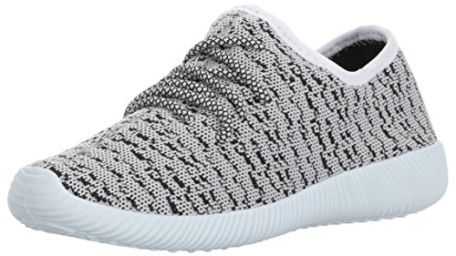Sneaker Di Moda Nacara-02 Di Qupid Womens Bianco / Nero Flyknit