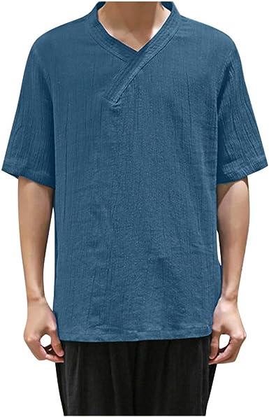 Overdose Camisas Hombre Manga Corta Tallas Grandes Gradiente Transpirable Teñido Camisetas T Shirt Verano Hawaiana Boda Vestir Japonesa Camiseta: Amazon.es: Ropa y accesorios