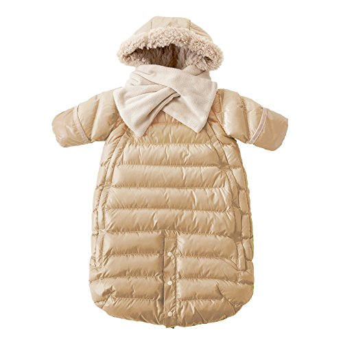 7AM Enfant Doudoune One Piece Infant Snowsuit Bunting, Beige, Small by 7AM Enfant